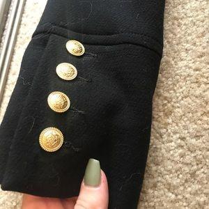 Gold studded pea coat